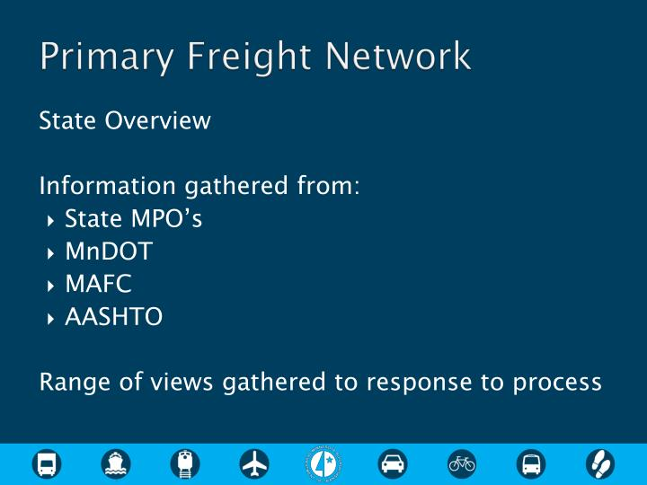 Primary Freight Network