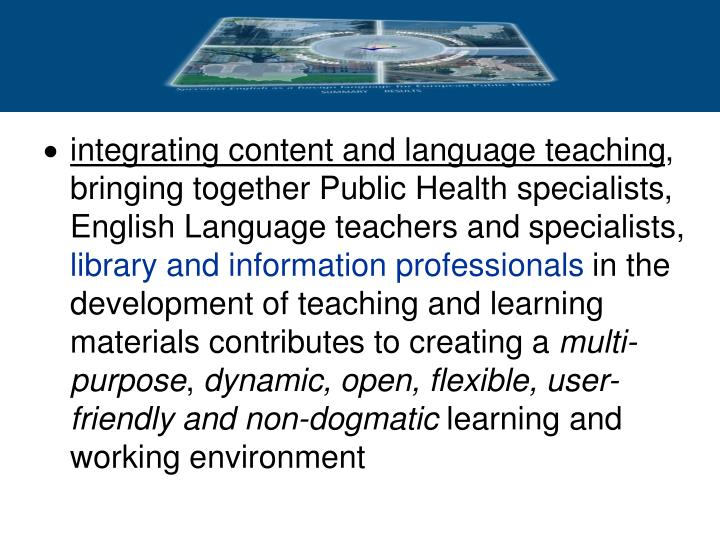 integrating content and language teaching