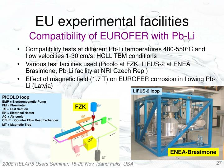 Compatibility of EUROFER with Pb-Li
