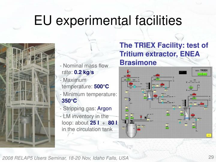 EU experimental facilities