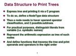 data structure to p rint trees