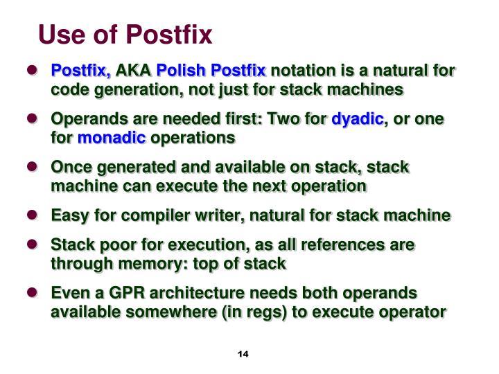Use of Postfix