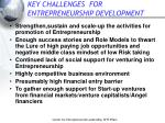 key challenges for entrepreneurship development