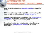 opprrtunities for entrepreneurship indian economy