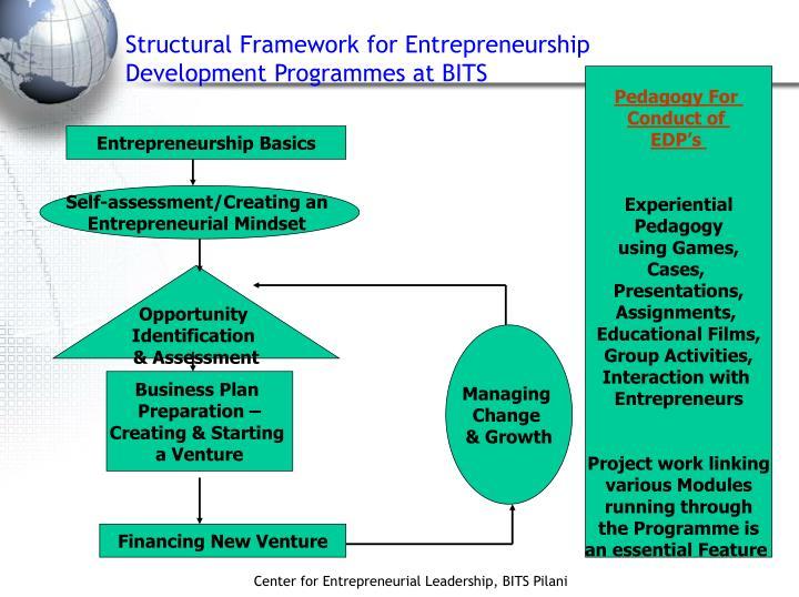 Structural Framework for Entrepreneurship Development Programmes at BITS