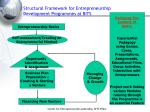 structural framework for entrepreneurship development programmes at bits