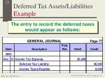 deferred tax assets liabilities example6