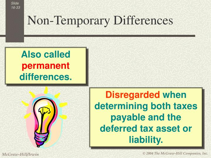 Non-Temporary Differences