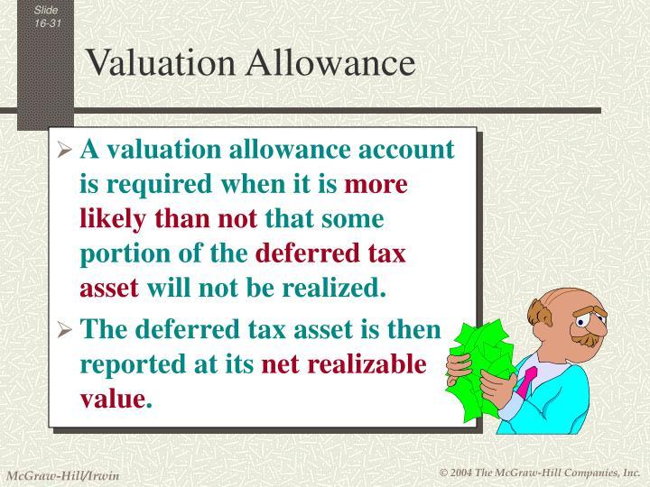 Valuation Allowance