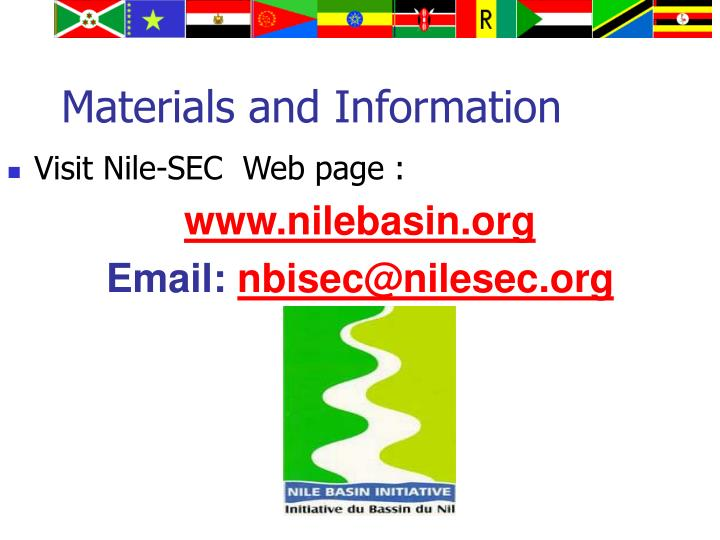 Materials and Information
