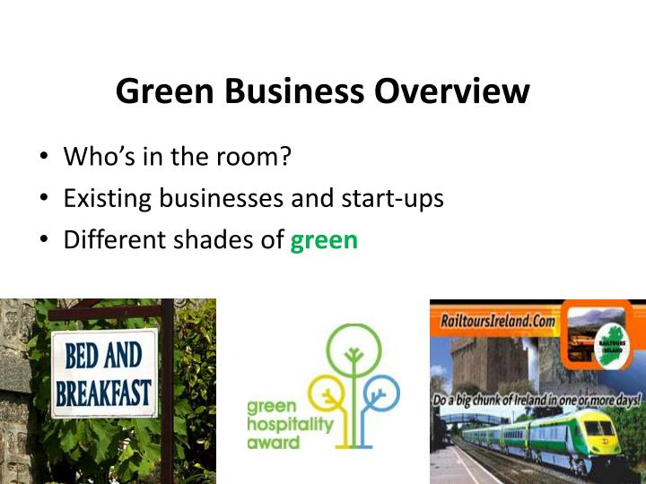 Green business overview
