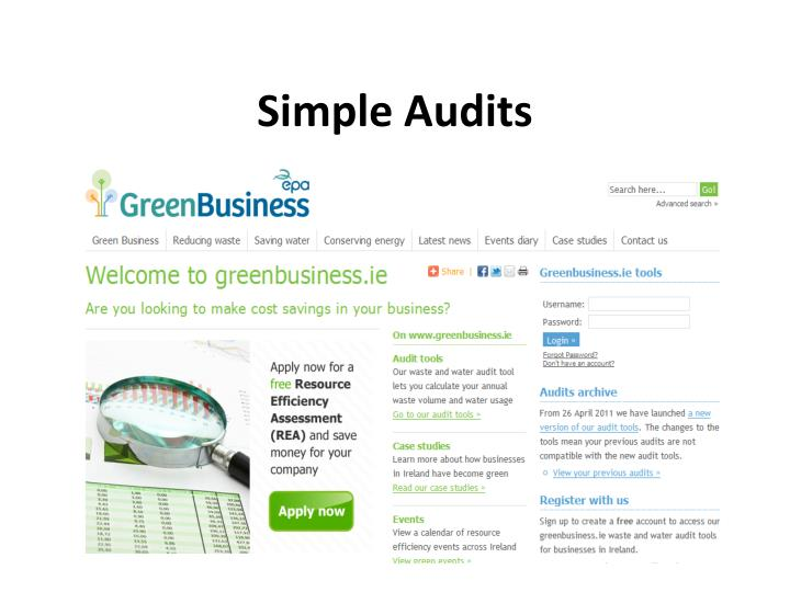 Simple Audits