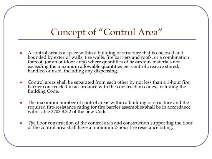 "Concept of ""Control Area"""