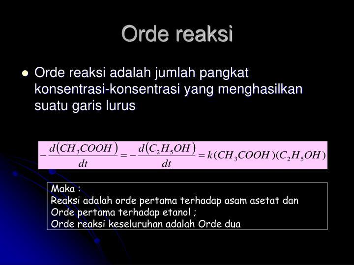 Orde reaksi