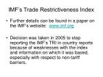 imf s trade restrictiveness index