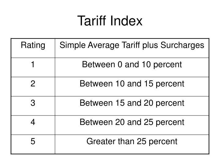 Tariff Index