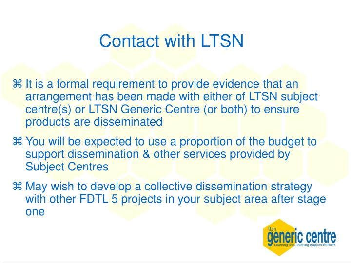 Contact with LTSN