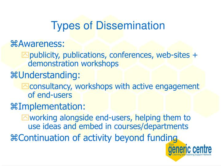 Types of Dissemination