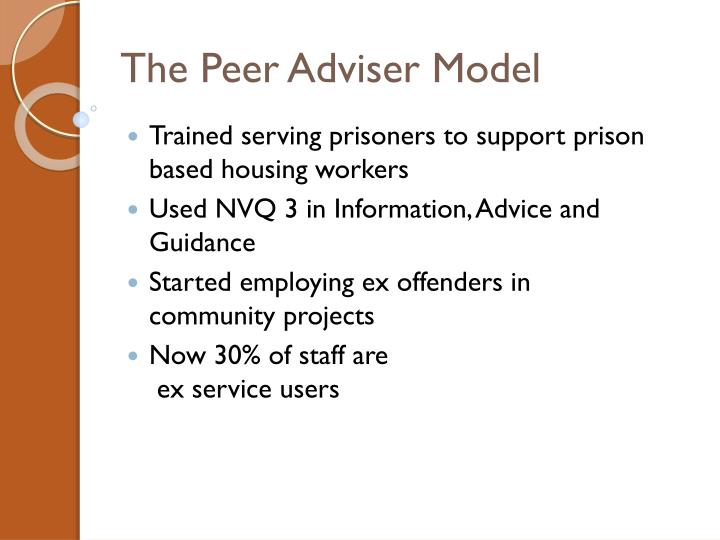 The Peer Adviser Model