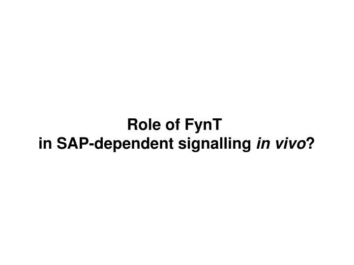 Role of FynT