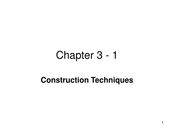 Chapter 3 - 1