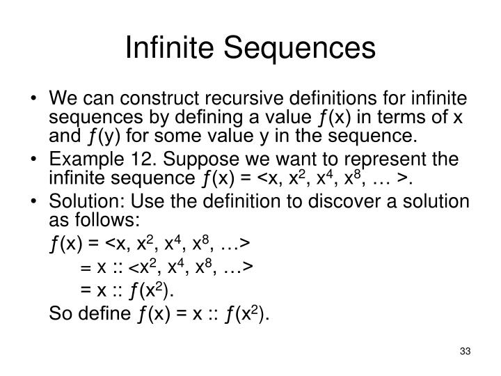 Infinite Sequences