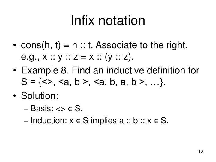 Infix notation