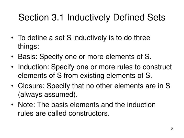 Section 3.1 Inductively Defined Sets