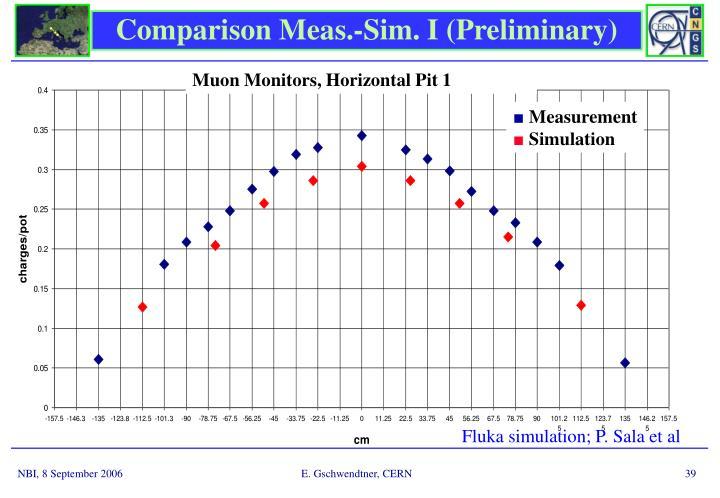 Comparison Meas.-Sim. I (Preliminary)