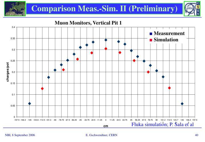 Comparison Meas.-Sim. II (Preliminary)