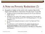 a note on poverty reduction 2