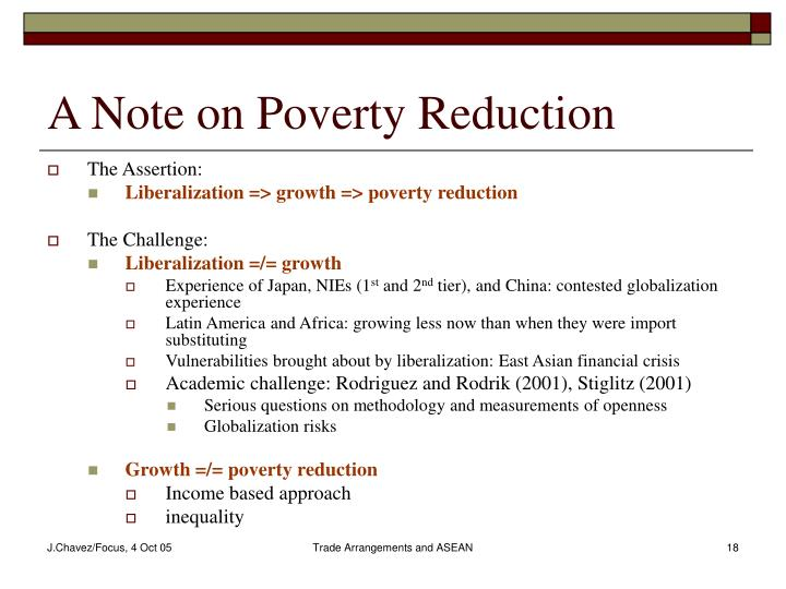 A Note on Poverty Reduction