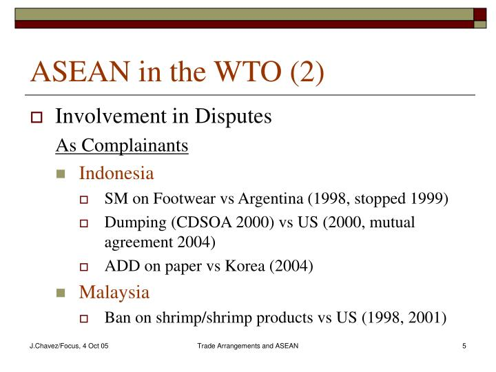 ASEAN in the WTO (2)