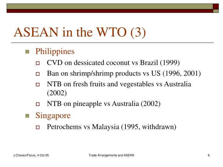 ASEAN in the WTO (3)