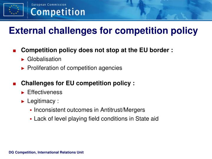 External challenges for competition policy