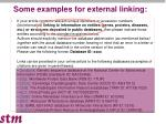 some examples for external linking