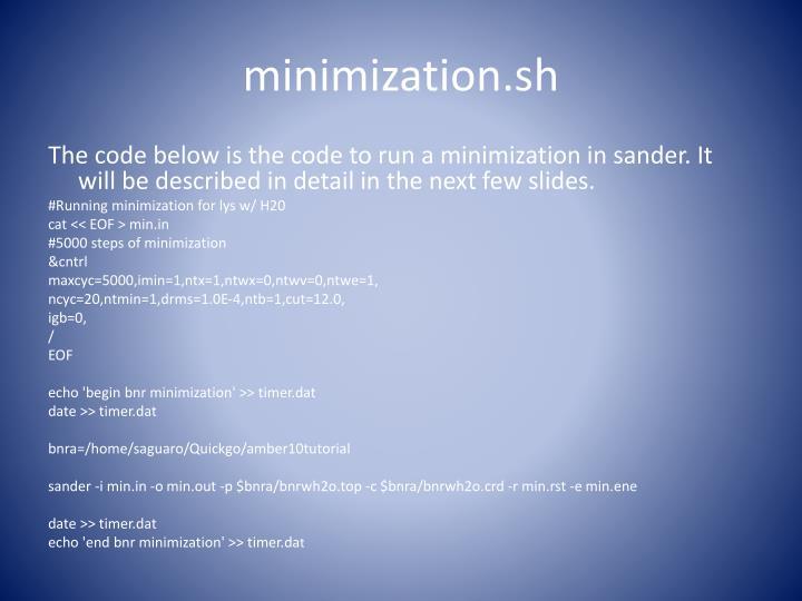 minimization.sh