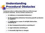 understanding procedural obstacles