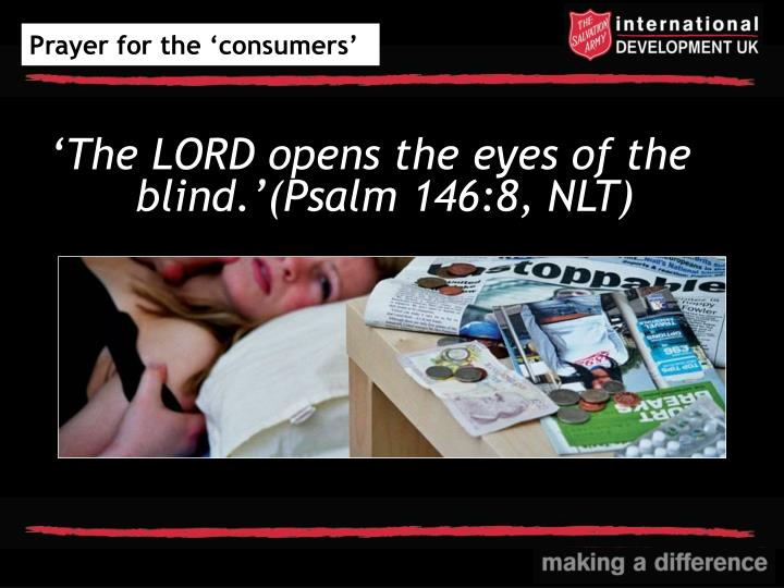 Prayer for the 'consumers'