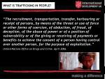 what is trafficking in people