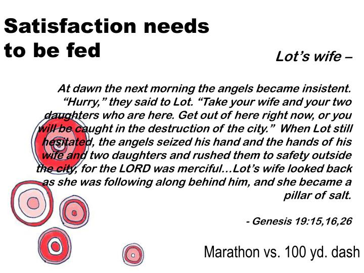 Satisfaction needs to be fed