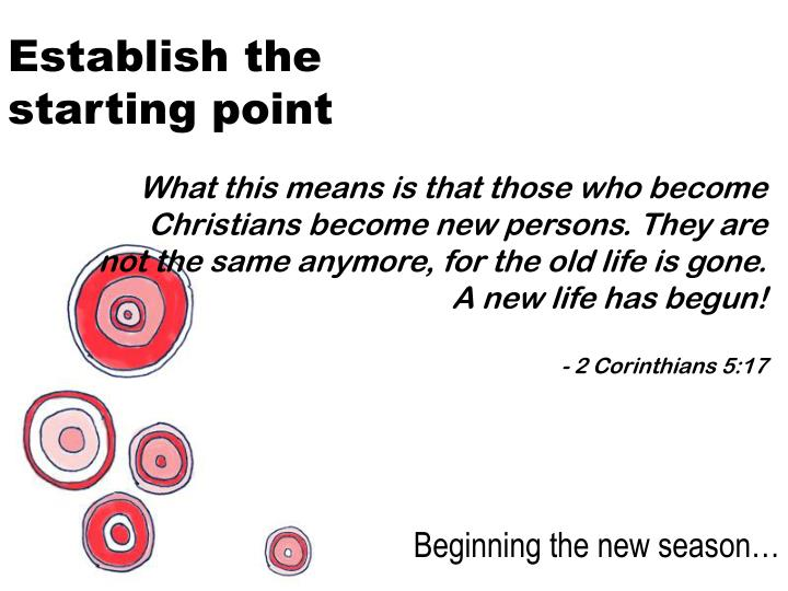 Establish the starting point
