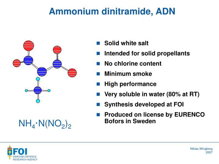 Ammonium dinitramide, ADN