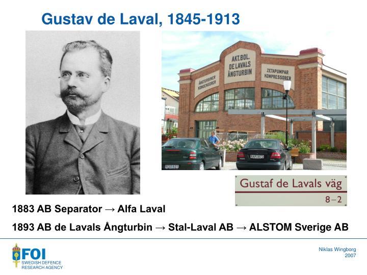 Gustav de Laval, 1845-1913