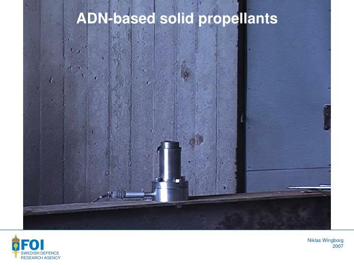 ADN-based solid propellants
