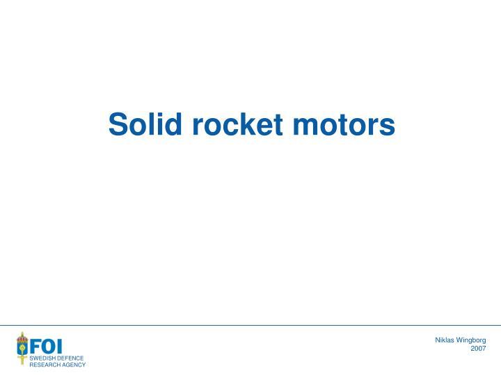 Solid rocket motors