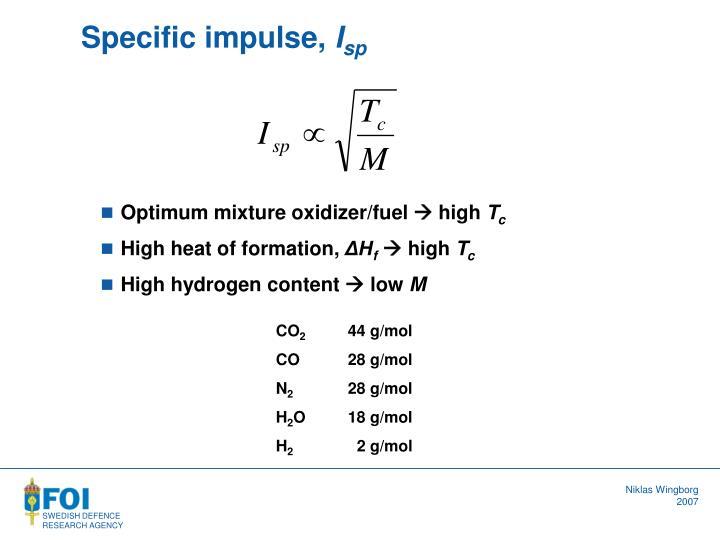 Specific impulse,