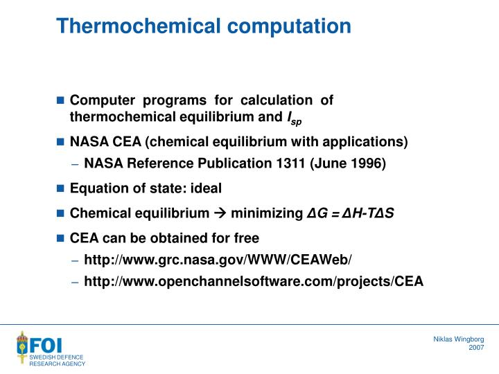 Thermochemical computation