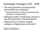 cholinergic changes in ad 1976