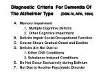 diagnostic criteria for dementia of the alzheimer type dsm iv apa 1994